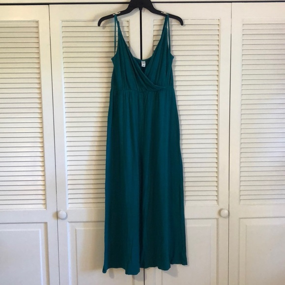 2a22a7f127 Old Navy Dresses | Jewel Tone Teal Maxi Dress Size M | Poshmark